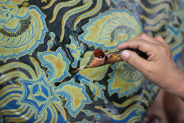 Nakładanie kolejnych warstw wosku